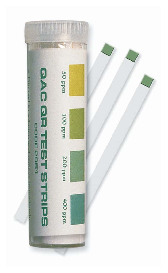 LaMotte Test Strips  Test: QAC; Range: 50-100-200-400ppm; 100 Strips:Thermometers,