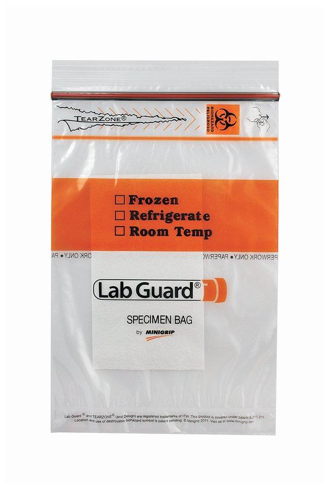 Minigrip™LabGuard™ Biohazard Specimen Bags