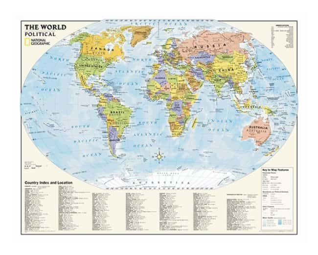 National Geographic™ U.S. and World Political Wall Maps