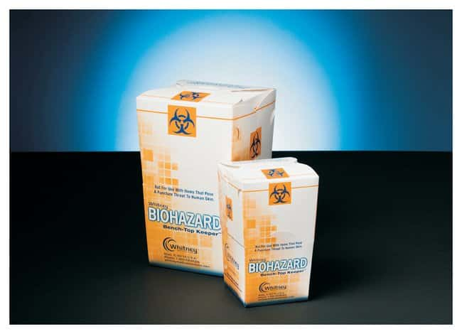 Whitney Medical Solutions Bench-Top Keeper Biohazard Container:Gloves,
