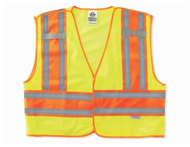 Ergodyne GloWear 8245PSV Type P Class 2 Public Safety Vest Lime; Large/X-Large:Gloves,