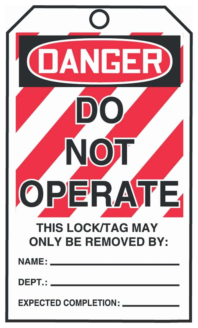 Accuform SignsDanger: Do Not Operate Tags-by-the-Roll