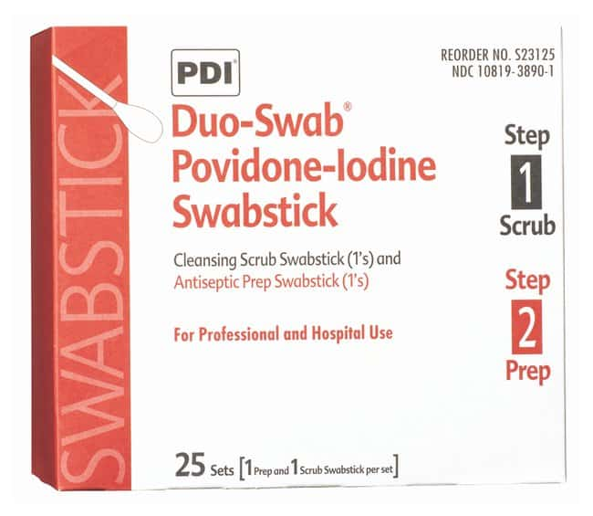PDI Povidone-Iodine Swabsticks:Gloves, Glasses and Safety:First Aid and