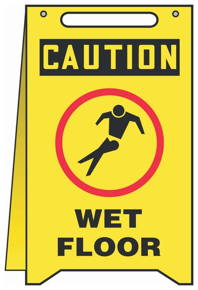 Accuform Signs Fold-ups Signs - Multiple Messages Legend: CAUTION WET FLOOR
