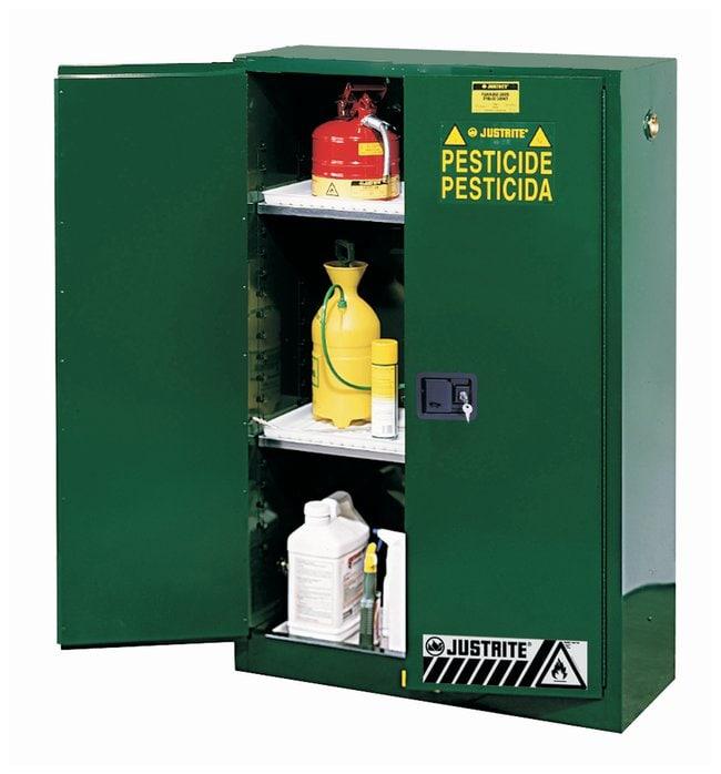 Justrite Sure-Grip EX Pesticide Cabinets Two Adjustable Shelves; L x W