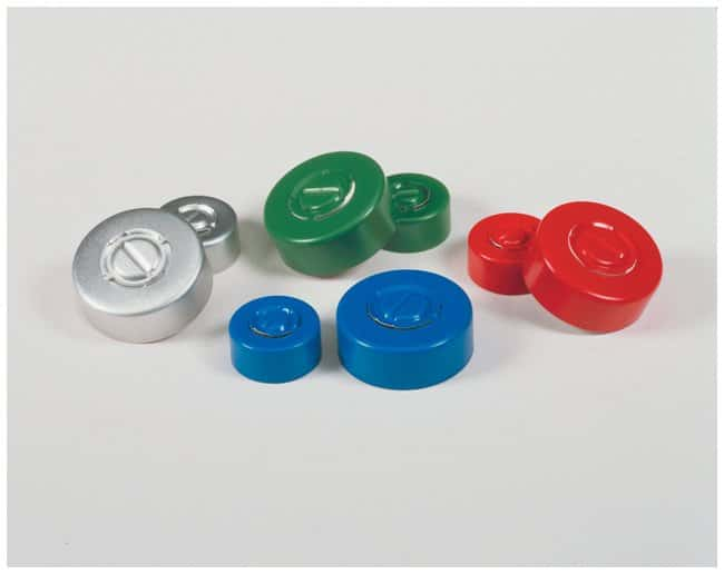 DWK Life Sciences Kimble Kontes Center Tear-Out Aluminum Seals, Color Coded:Chromatography:Autosampler