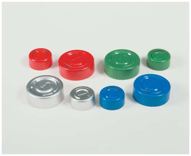 DWK Life Sciences Kimble™ Kontes™ Center Tear-Off Aluminum Seals, Color Coded