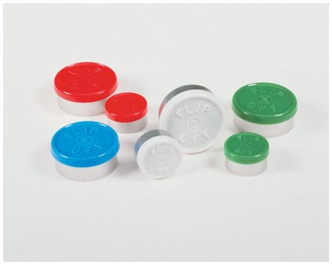 DWK Life SciencesKimble™ Kontes™ Flip-Off Button-Top Aluminum Seals, Color Coded