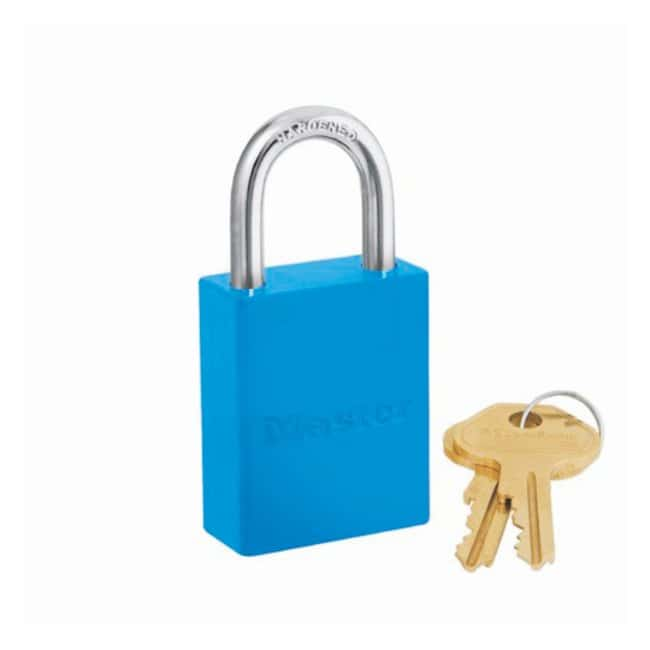 Master Lock Safety High-Visibility Aluminum Padlock:Gloves, Glasses and