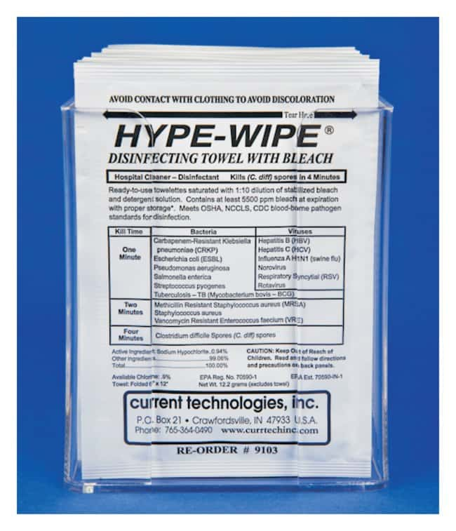 Current Technologies Clear Acrylic Holders for HYPE-WIPE™ Towelettes