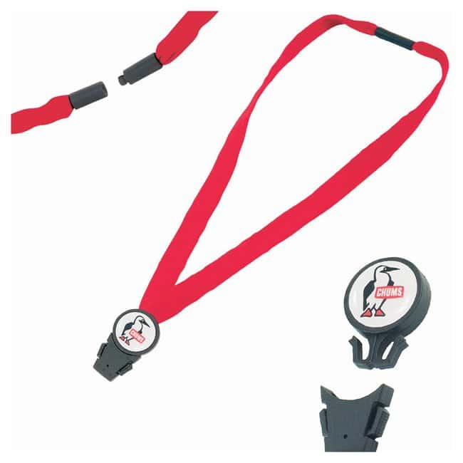 Chums 3/4in. Detachable Breakaway Lanyards Red:Gloves, Glasses and Safety