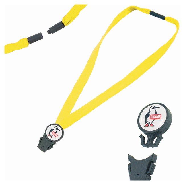 Chums 3/4in. Detachable Breakaway Lanyards EV Neon Yellow:Gloves, Glasses