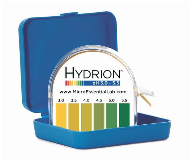 Micro Essential LabHydrion Jumbo Single Roll pH Test Paper Dispensers pH-range:
