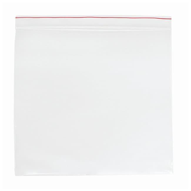 Minigrip Red Line Plain Reclosable Zipper Bags Size: 8x8 in; Film gauge: