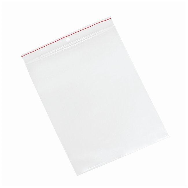 Minigrip Red Line Plain Reclosable Zipper Bags Dimension: 6 x 8 in. (15.24