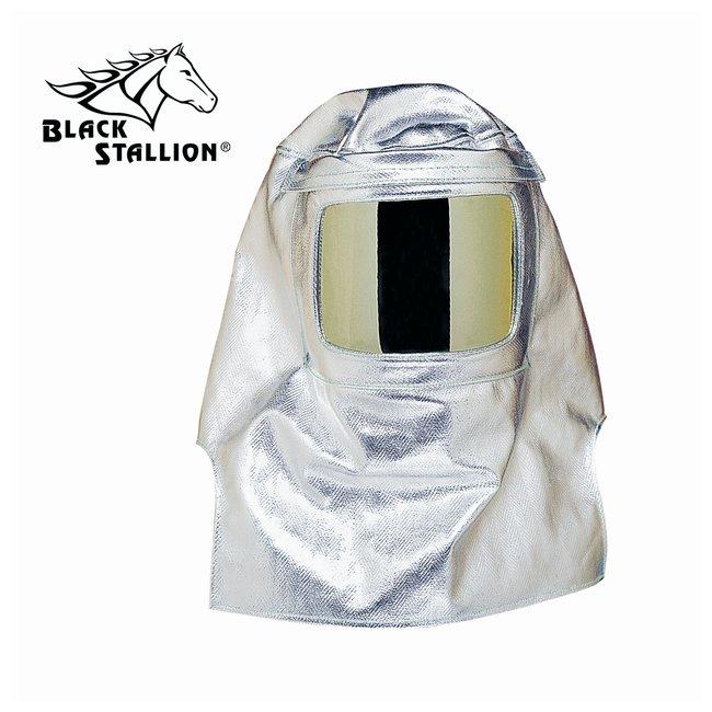 Black Stallion Aluminized Heat-Resistant Hood Aluminized heat resistant