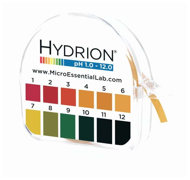 Micro Essential LabSingle-Roll Hydrion™ pH Test Paper, With Chart