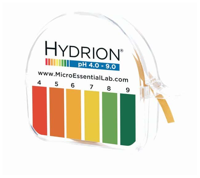 Micro Essential Lab Single-Roll Hydrion™ pH Test Paper, With Chart