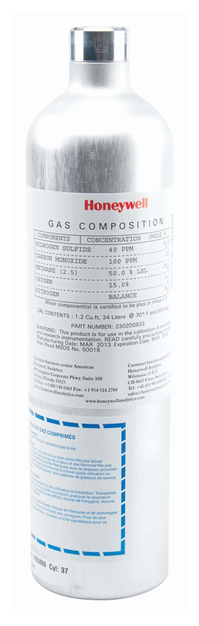 Honeywell Analytics CalGas Calibration Gases:Gloves, Glasses and Safety:Chemical
