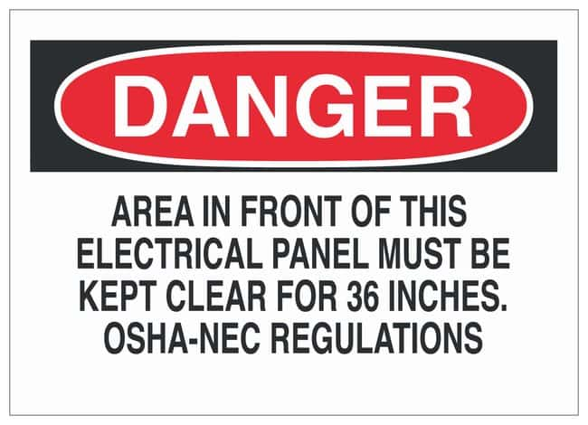 Brady Electrical Hazard Signs: Polyester 7H x 10 in. W; High Performance