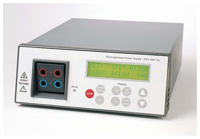 Cytiva (Formerly GE Healthcare Life Sciences) EPS 3501 High Voltage Power Supplies for Electrophoresis Units EPS 3501 XL; 3500V, 400mA, 200w Cytiva (Formerly GE Healthcare Life Sciences) EPS 3501 High Voltage Power Supplies for Electrophoresis Units