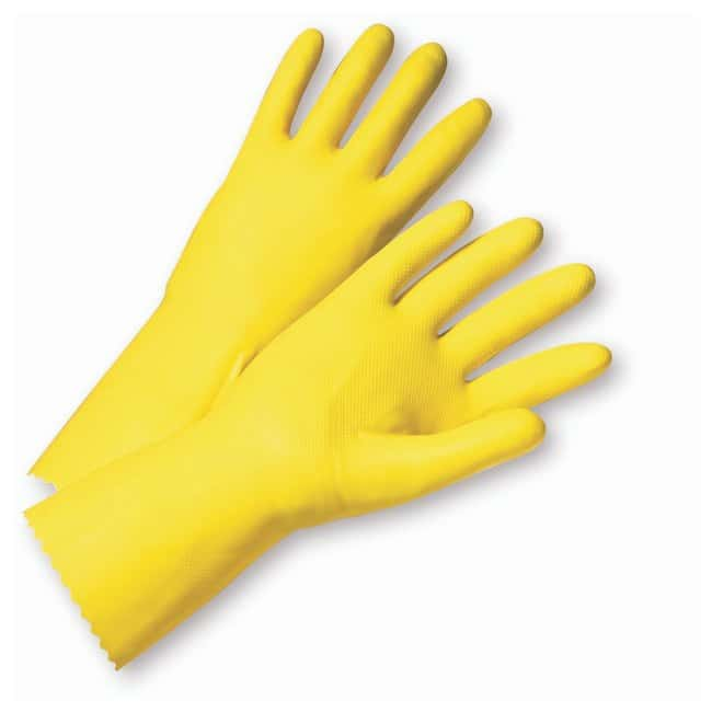 West Chester Premium Posigrip Flocked-Lined Yellow  Latex Gloves Size: