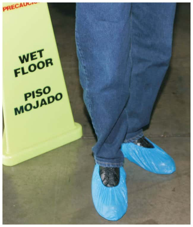 International Enviroguard Polypropylene Shoe Cover Anti-Skid; Blue; X-Large:Gloves,