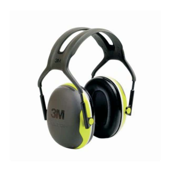 3M Peltor X4A Over-the-Head Ear Muffs 27 dB reduction; 8.25 oz.; Black/Chartreuse:Gloves,
