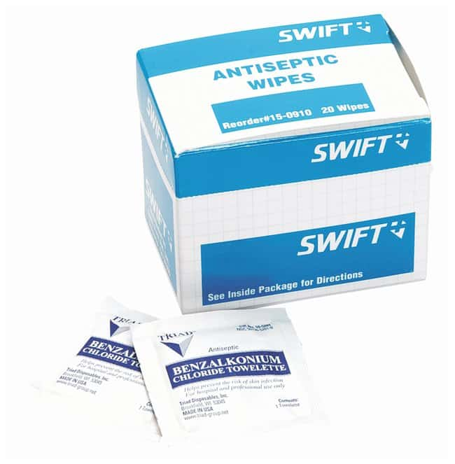 Honeywell North Safety Antiseptic/Wound Wipes Antiseptic wipes; No of pieces: