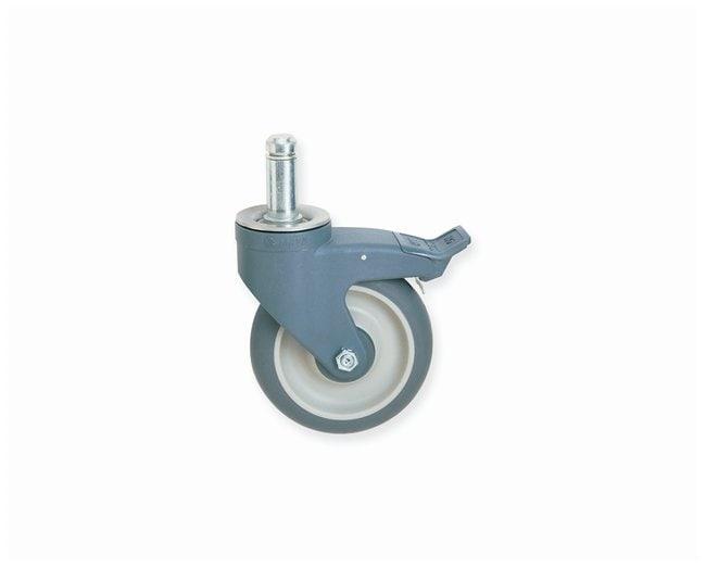 Metro MetroMax iQ Polymer Stem Casters Polymer; Type: Brake; Wheel tread: