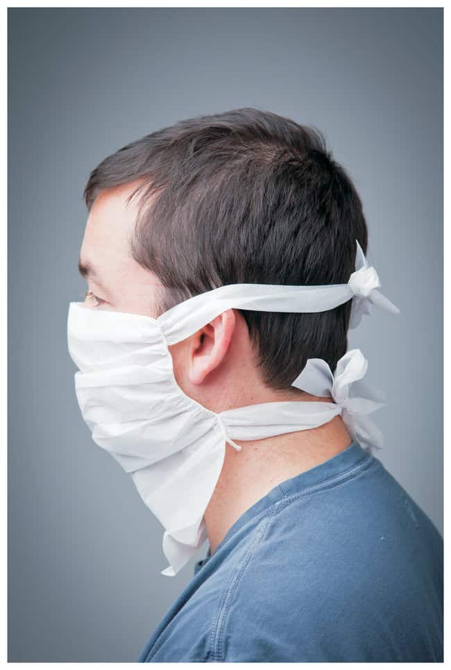 VAI PF-2 Face Masks Four ties; Sterile:Gloves, Glasses and Safety