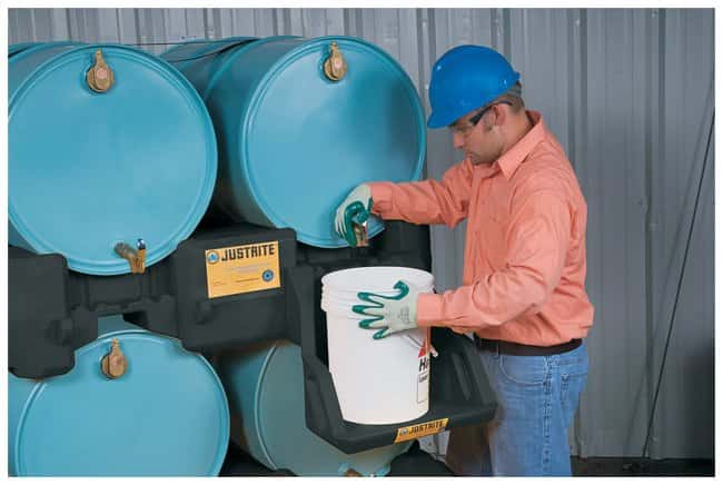 Justrite™EcoPolyBlend™ Drum Management System Stack Module; Capacity: 680kg (1500 lb.) Justrite™EcoPolyBlend™ Drum Management System