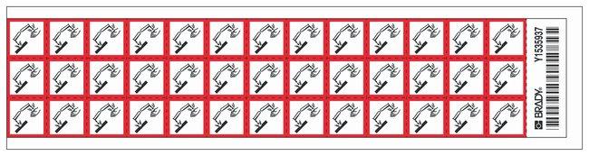 Brady Globally Harmonized System (GHS) Corrosive Picto Labels :Gloves,