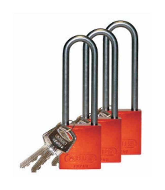Brady™Keyed Alike Aluminum Padlocks with 3 in. Shackle Locks