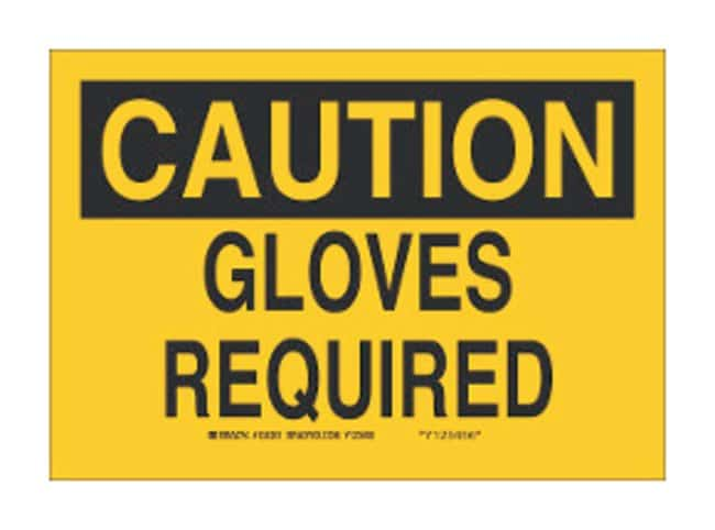 "Brady™ ""Caution: Gloves Required"" Signs"