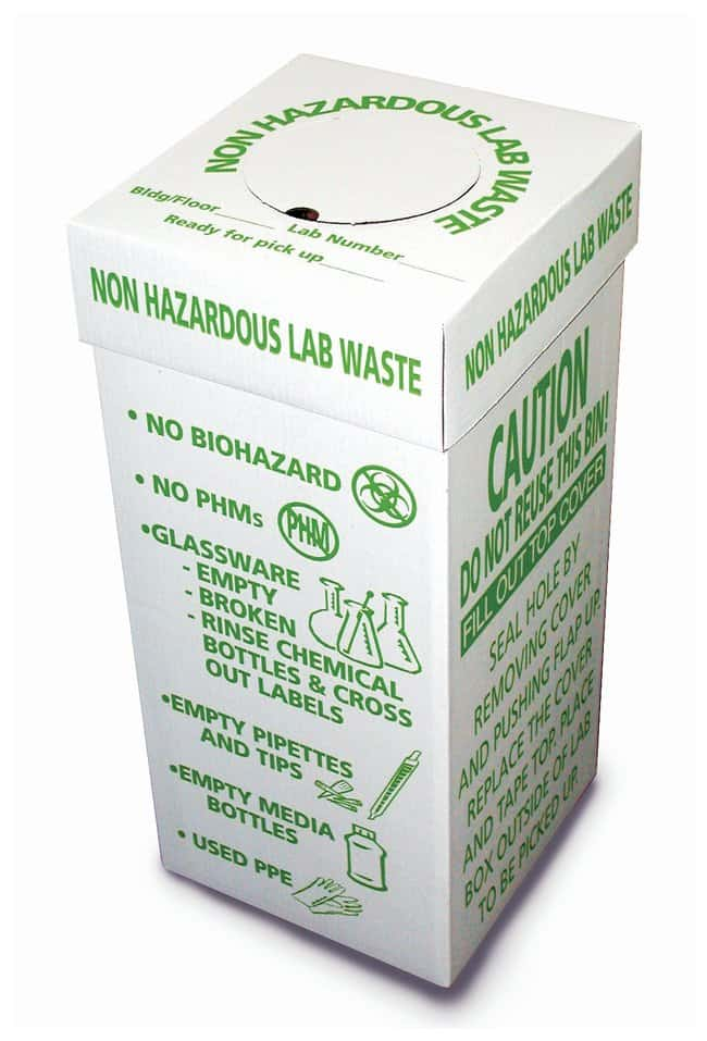 DynalonNon-Hazardous-Waste Lab Disposal Box 12 x 12 x 27in.:Facility Safety