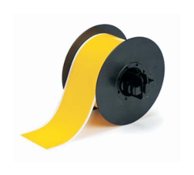 Brady™ BBP™ Repositional Vinyl Film Yellow; 4 in. x 100 ft. Brady™ BBP™ Repositional Vinyl Film