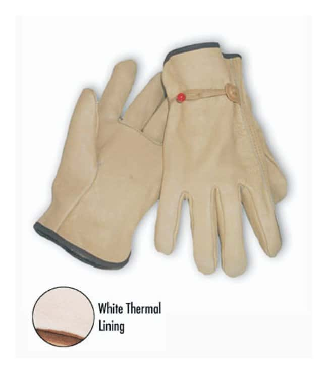 PIPCowhide Work Gloves Small; Stapled:Personal Protective Equipment
