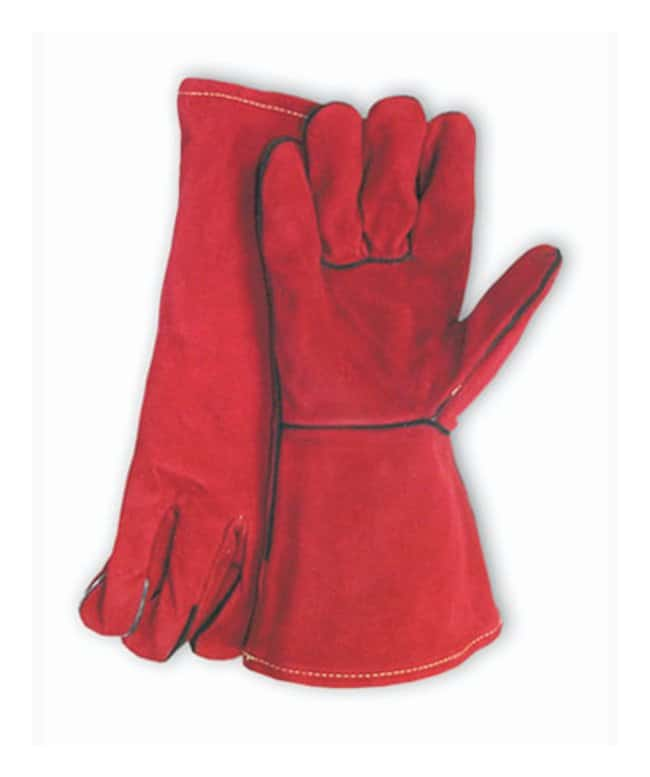 Fisherbrand Lined Leather Welder's Gloves:Gloves, Glasses and Safety:Gloves