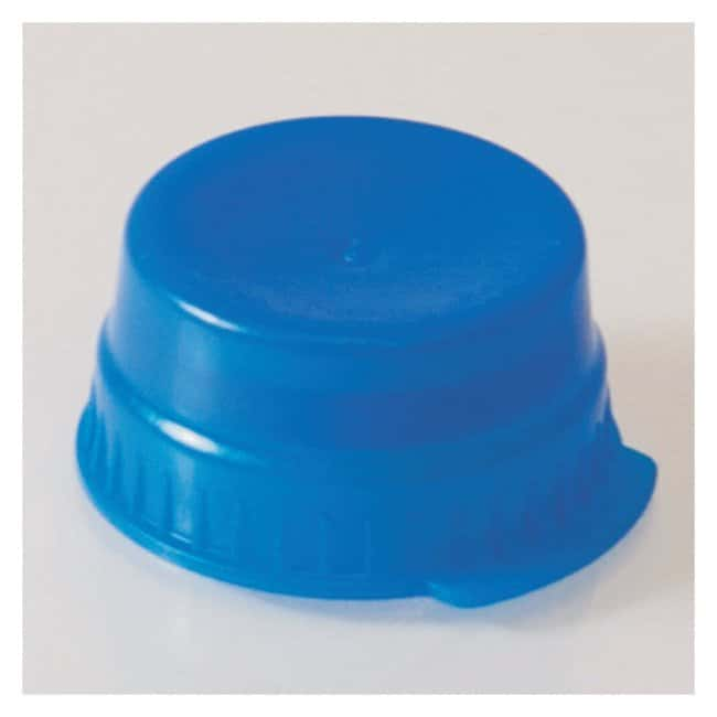 Globe Scientific Snap Caps with Single Thumb Tab For 16mm Tubes Blue (code
