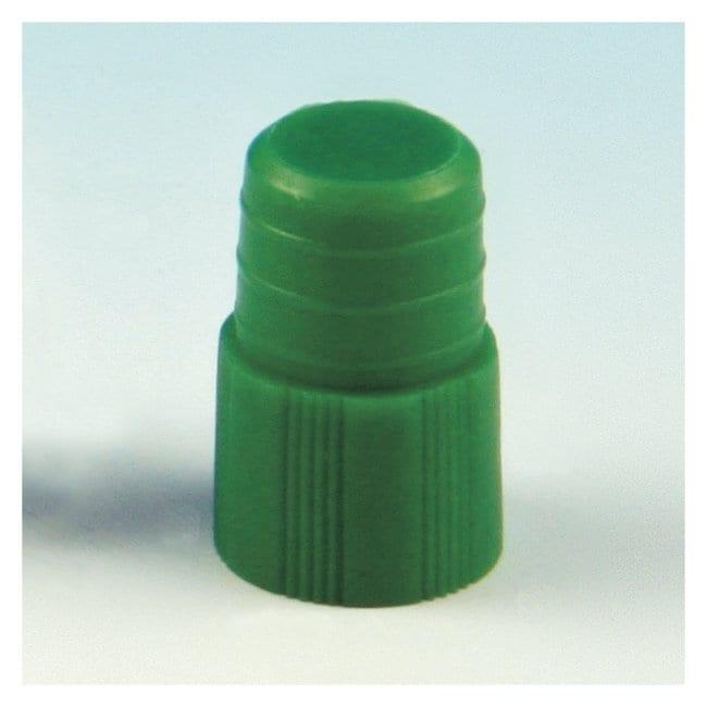 Globe Scientific Plug Stopper for 12mm Tubes Green (code G):Beakers, Bottles,