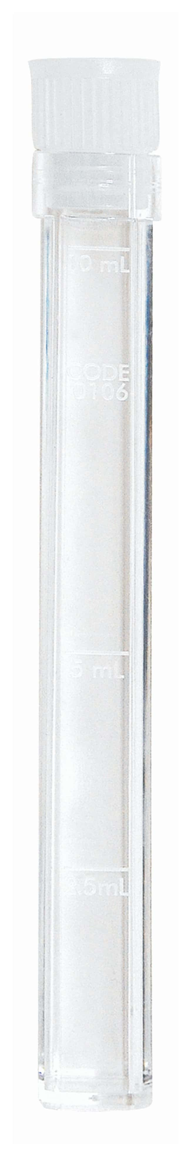 LaMotte 10mL Square Test Tube 10mL; With cap:Beakers, Bottles, Cylinders