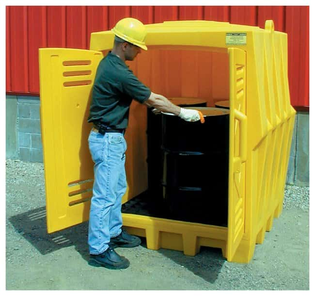 Eagle Four-Drum Outdoor Storage Building Drum Outdoor Storage:Gloves, Glasses