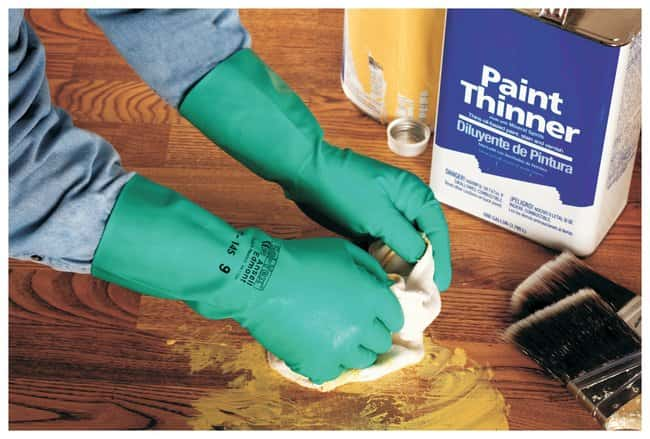 Ansell™ Solvex™ Green Nitrile Immersion Gloves