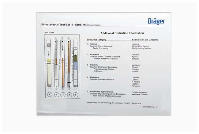Drger Individual Haz Mat Simultaneous Test Sets:Gloves, Glasses and Safety:Chemical