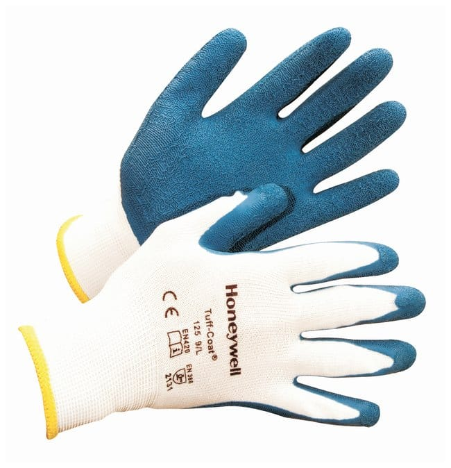 Honeywell Tuff-Coat Dipped Gloves Nylon; X-large; White cuff:Gloves, Glasses