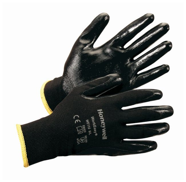 Honeywell WorkEasy General Purpose Gloves Nitrile; Black w/black coating;