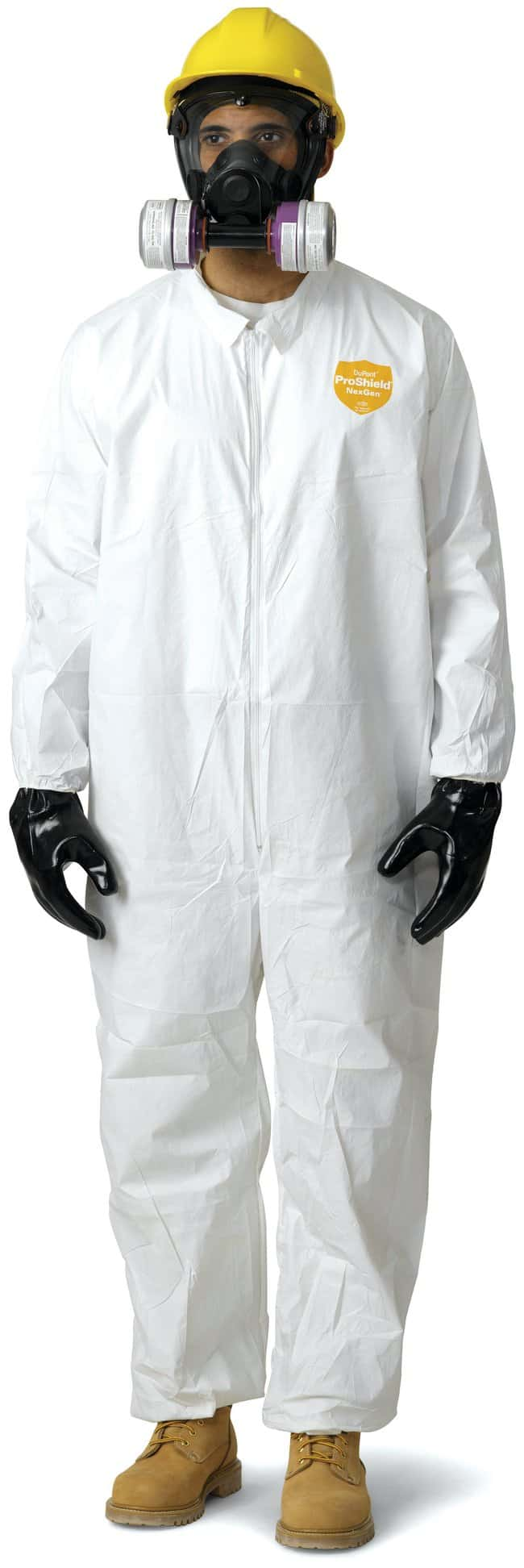 DuPont NexGen Protective Coveralls: With Hood and Boots Elastic wrists