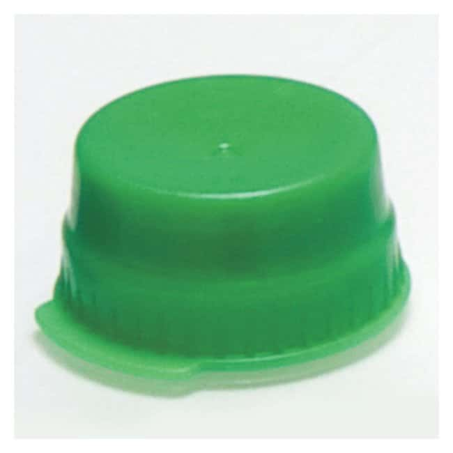 Globe Scientific Snap Caps with Single Thumb Tab For 16mm Tubes Green (code