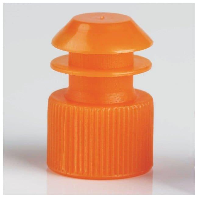 Globe Scientific Flanged Plug Caps For 12mm Tubes Orange (code N):Beakers,